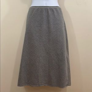 Necessary Objects Black & White Checkerboard Skirt
